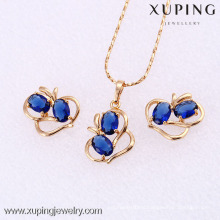 61850- Xuping Jewelry set women cheap gold plated jewelry crystal