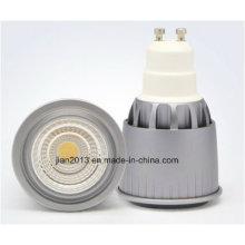 GU10 7W 85-265V Branco COB LED Spotlight