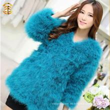 Gefärbte Pelzmantel Frauen echte Feder Pelz Jacken