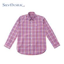 Blusa Preppy Tops Colorido Checks Meninos Camisetas Longas