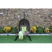 Resistente todo el tiempo Jardín Muebles de mimbre Silla de columpio Rattan Poly hamaca