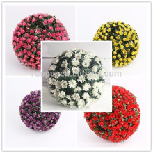 Yiwu beautiful real touch plastic rose flower ball for wedding decoration
