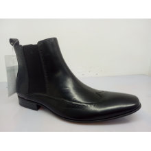 Mens Elastic Band Ankle Boots Black Nx 535