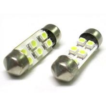 36mm 6SMD 1210/3528 carro LED festoon
