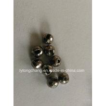 Fliegenbinden Sie Diamond Cut Tungsten Perlen Dia2.5mm, schwarz