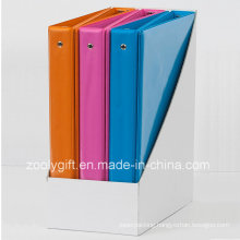 Top Sales Fashion 1.5 Inch Combined Color PVC 3 Ring Binders with PDQ