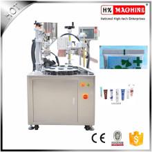 Machine de remplissage et de cachetage de tube en plastique pour le remplissage de crème de lotion
