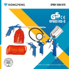 Rongpeng R8031k5-G 5PCS Kits de herramientas neumáticas Kits de pistola de pulverización