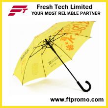 23 polegadas Auto Open Straight Umbrella para Custom