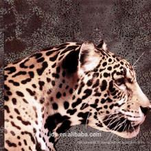 Tissu imprimé 3D de conception léopard