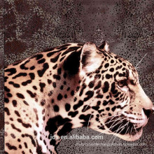 3D leopard design printed fabric