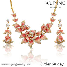 S-6 Xuping fashion gold jewelry, bridal engagement wedding jewelry sets for women