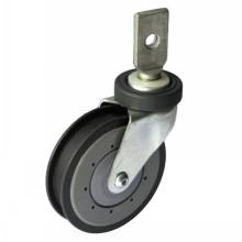 "5"" Splinting Type Swivel Shopping Cart Caster (gray, one groove)"