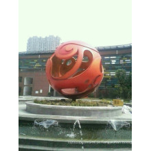 Esferas modernas grandes da arte Esfera do aço inoxidável para a decoração do jardim