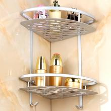 2-Tier Shelf Basket Aluminium Corner Shelves