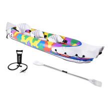 Kayak de pesca inflable para 3 personas con deportes acuáticos