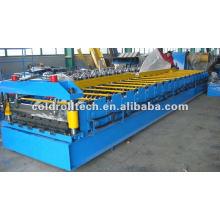 máquina de fabricación de chapa de techo de acero mediante perfilado