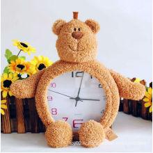 Прекрасный интересный плюшевый медведь часы игрушки