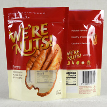 High Quality Stand Up Pouch Customized Aluminum Foil Nuts Snacks Packaging Bag