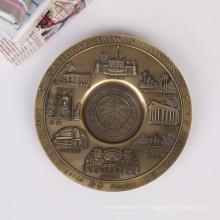 Plaque commémorative gravée en métal de logo fait sur commande du logo 1-30CM de prix usine