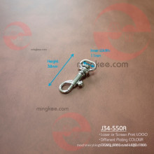 Little Small Metal Nickel Free Leather Tag Snap Dog Hook