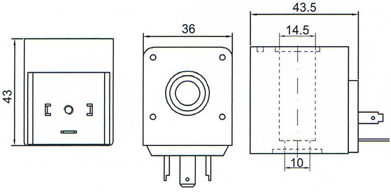 Overall dimension of TM30 Automatic Drain Valve Accessories Electric Magnetic Coils