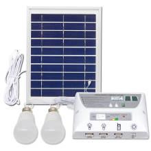 Kit de iluminación verde de panel solar plegable multifuncional