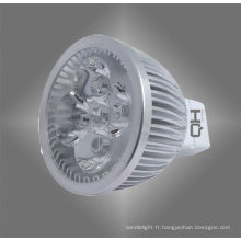 4W MR16 aluminium alliage Spot LED lampe