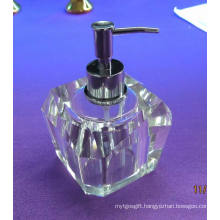 Fashion and Special 80 Ml Home Crystal Glass Soap Bottle