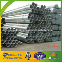 8 polegadas sch 10 de imersão a quente de aço galvanizado tubo / tubo fabricados na China