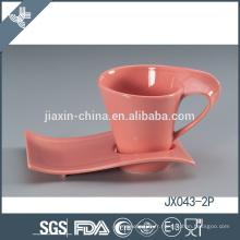 043-2P180CC Tasse à café et soucoupe en céramique