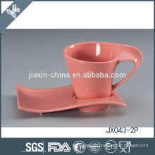 043-2P180CC Ceramic coffee cup and saucer