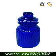Pot en verre avec couvercle pour la décoration de la maison Stockage