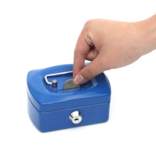 Proper Price 4 inch Square Metal Money Mini Size Coin Collecting Box for Kids