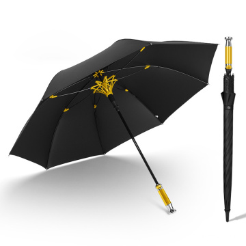 Advertising Business Lotus Frame Fiberglass Ribs Windproof Golf Umbrella for Car
