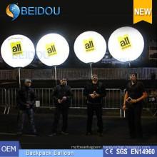 Advertising Balloons PVC Walking Lighting Balls Inflatable Backpack Balloon