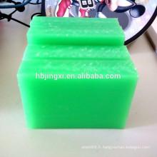 Feuille résistante à la corrosion verte de pp, feuille en plastique de pp