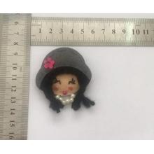Cute Little Girl Pin avec tissu