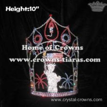 Custom Rhinestone Fireworks Forth Of July Pageant Crowns