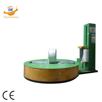 Máquina automática de envoltura de celofán con rollo de papel cilíndrico