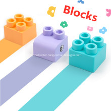 soft plastic building blocks toy baby building blocks