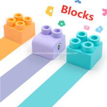 bloques de construcción de plástico blando bloques de construcción para bebés de juguete