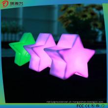 Luz colorida da corda do diodo emissor de luz da forma de Pentastar para a luz da decoraço