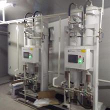 Planta do oxigênio do hospital no local com sistema alternativo múltiplo