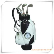 Промо-подарки для гольф ручка держатель с часами
