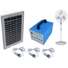 Ahorro de energía Sistema de energía solar para el hogar 100% 40W con luces LED Ventiladores y televisores