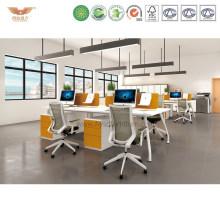 Elegant White Office Furniture Modular Computer Workstation (CLEVER S-02-1*4)