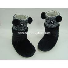 Китай оптовые комнатные сапоги ботинки животное сапоги для детей PV плюшевые панды черные сапоги тапки