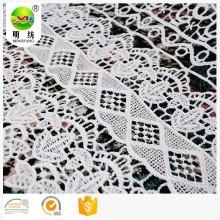 100 полиэстер Дешевая кружевная ткань для женской одежды