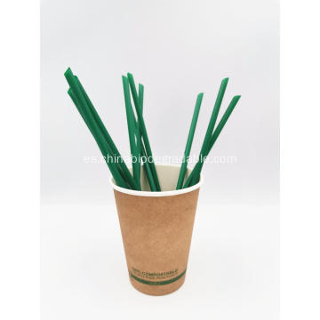 Pajitas desechables 100% biodegradables para fiestas de maíz PLA Party